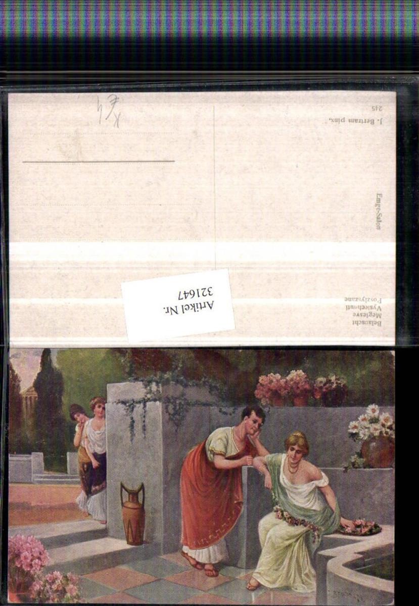 321647,Künstler AK J. Bertram Belauscht Frauen u. Mann m. Toga Krug günstig online kaufen