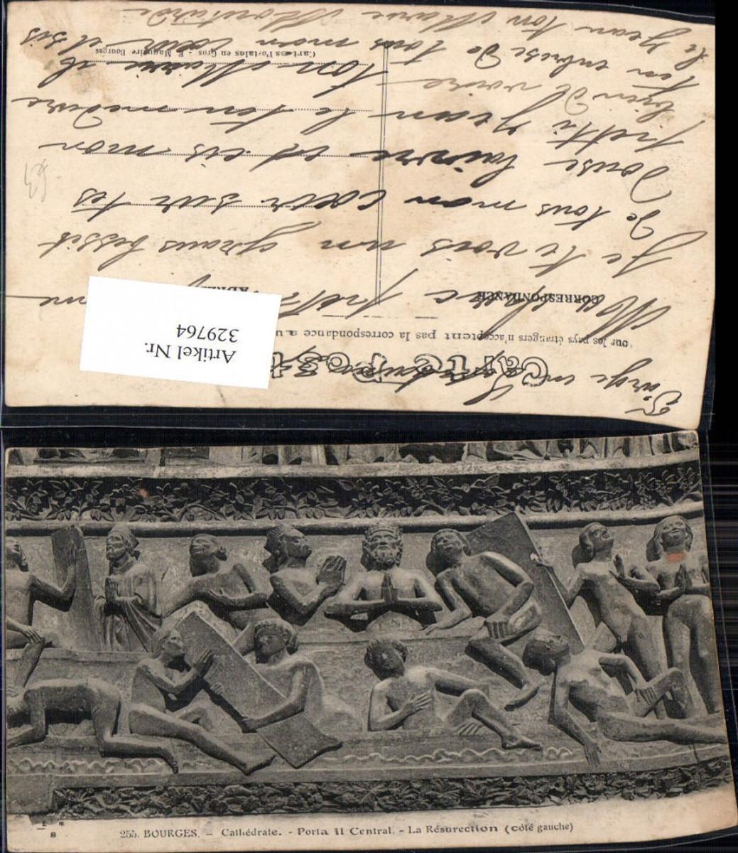 329764,Bourges Cathedrale Portail Central La Resurection Relief Eingange Kirche  günstig online kaufen