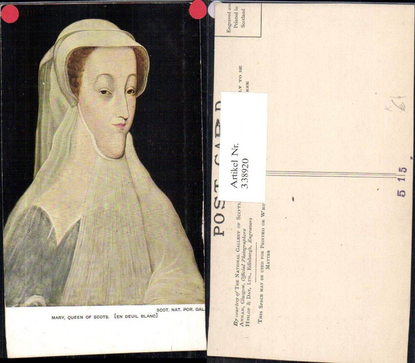 338920,Künstler Ak Mary Queen of Scots Portrait Adel Monarchie  günstig online kaufen