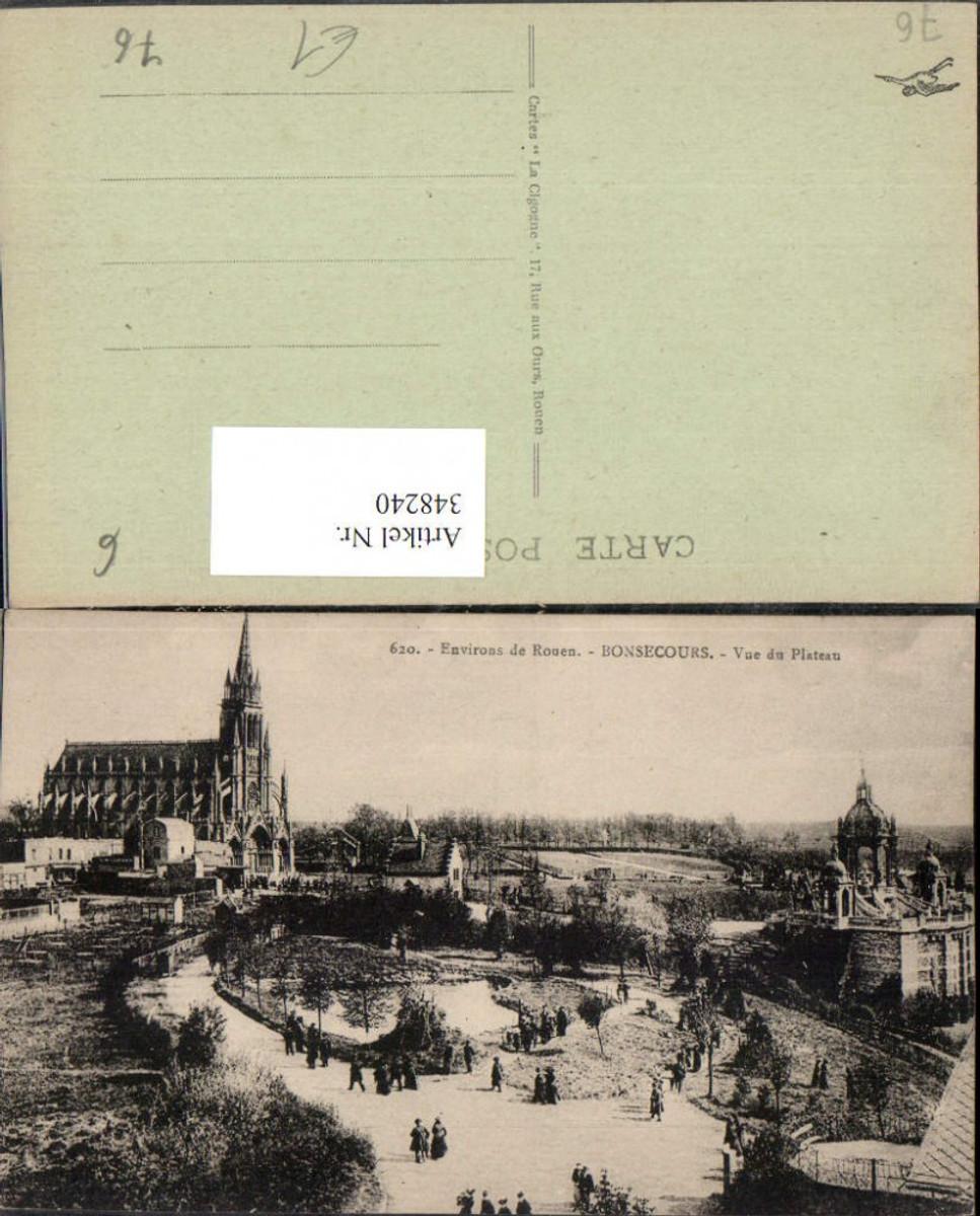 348240,Haute-Normandie Seine-Maritime Rouen Bonsecours Vue deu Plateau Kirche günstig online kaufen