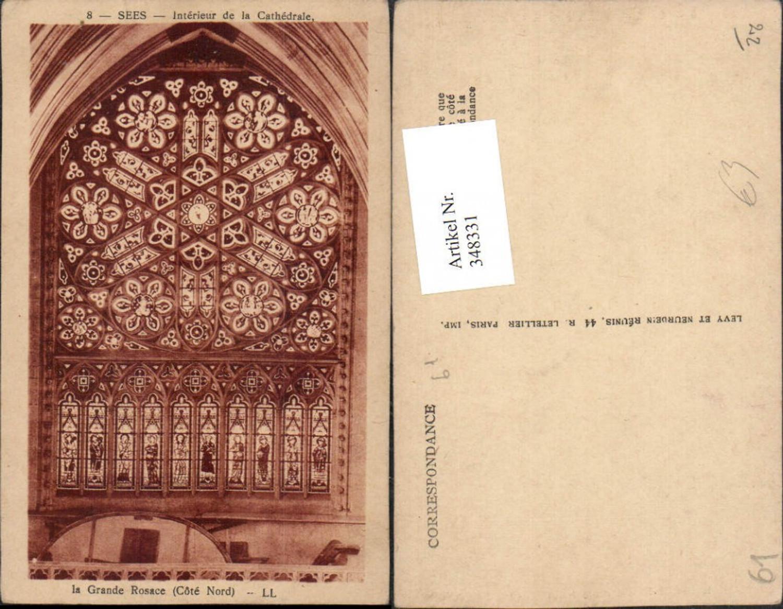 348331,Basse-Normandie Orne Sees Interieur de la Cathedrale Grande Rosace Kirche Fensterrose  günstig online kaufen