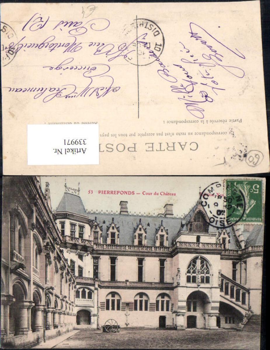 339971,Picardie Oise Pierrefonds Chateau Schloss Cour du Chateau Hof  günstig online kaufen
