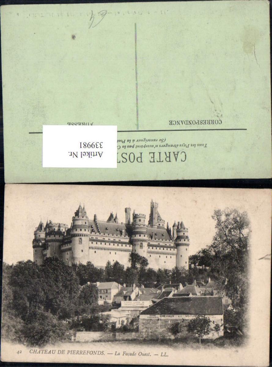 339981,Picardie Oise Pierrefonds Chateau Schloss La Facade Ouest  günstig online kaufen