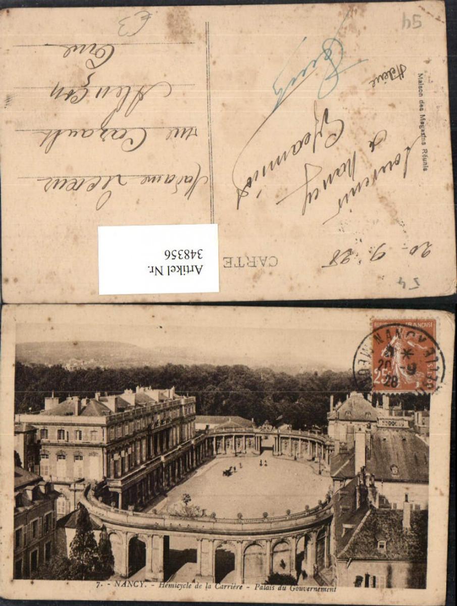 348356,Lothringen Meurthe-et-Moselle Nancy Hemicycle de la Carriere Palais du Gouvernement günstig online kaufen