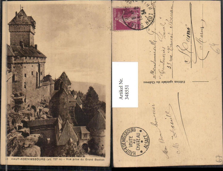 348551,Elsass Bas-Rhin Haut-Koenigsburg Burg b. Orschwiller Vue prise du Grand Bastion günstig online kaufen