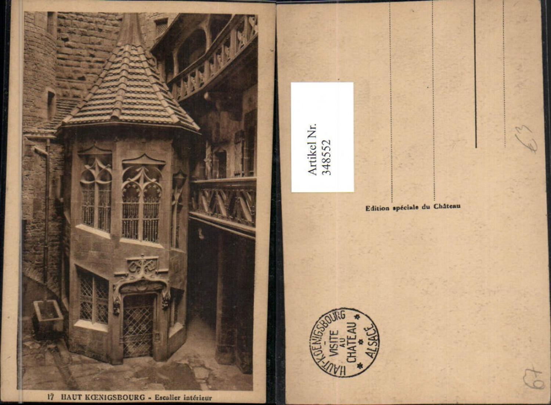 348552,Elsass Bas-Rhin Haut-Koenigsburg Burg b. Orschwiller Escalier interieur Wendeltreppe günstig online kaufen