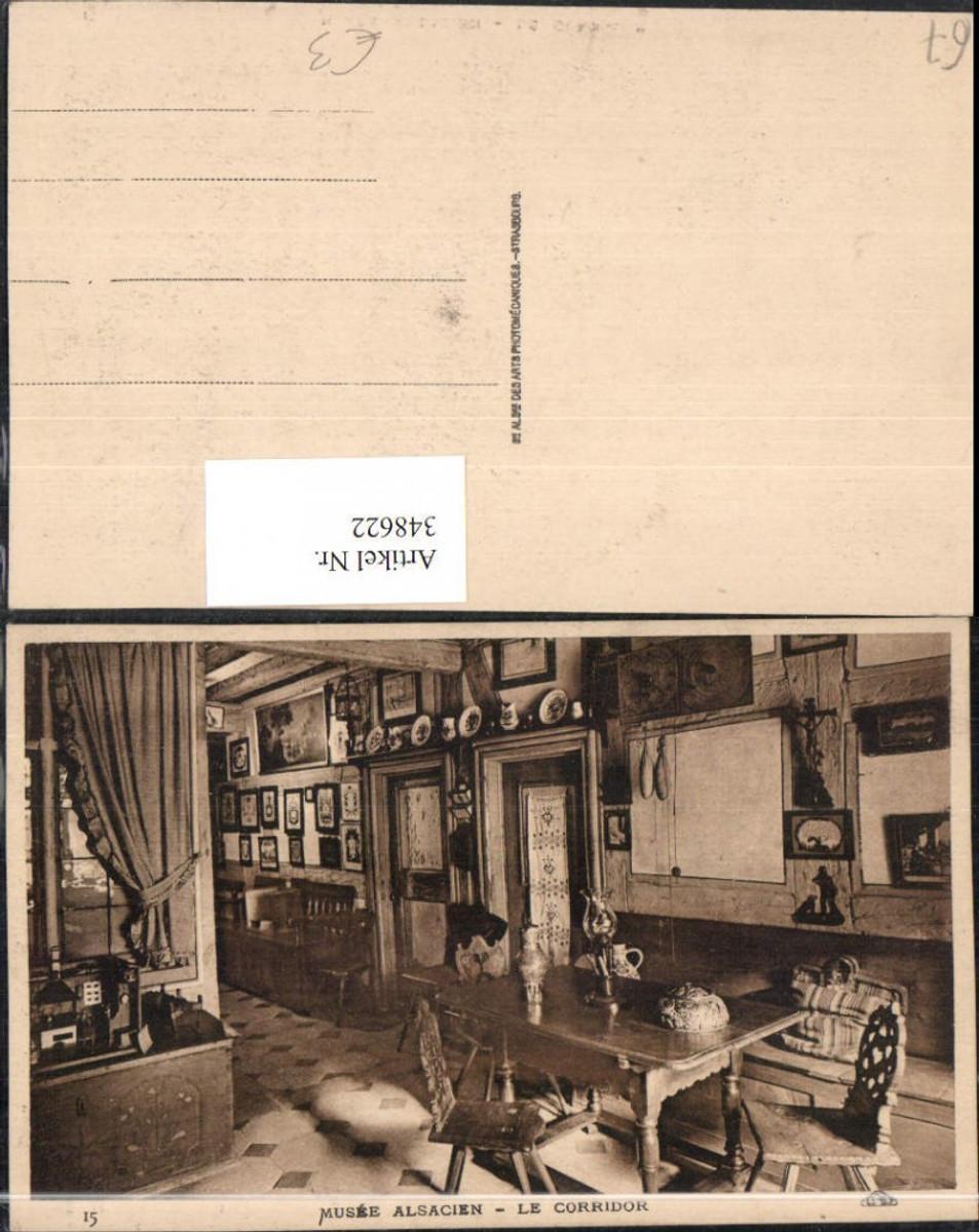 348622,Elsass Bas-Rhin Strasbourg Straßburg Musee Alsacien Le Corridor Museum günstig online kaufen