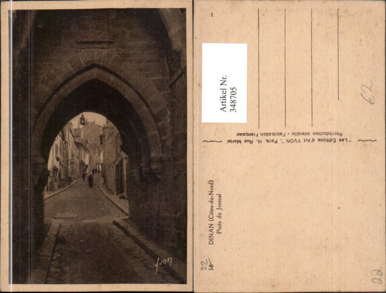348705,Bretagne Cote-Amor Dinan Porte du Jersual Tor Straßenansicht günstig online kaufen