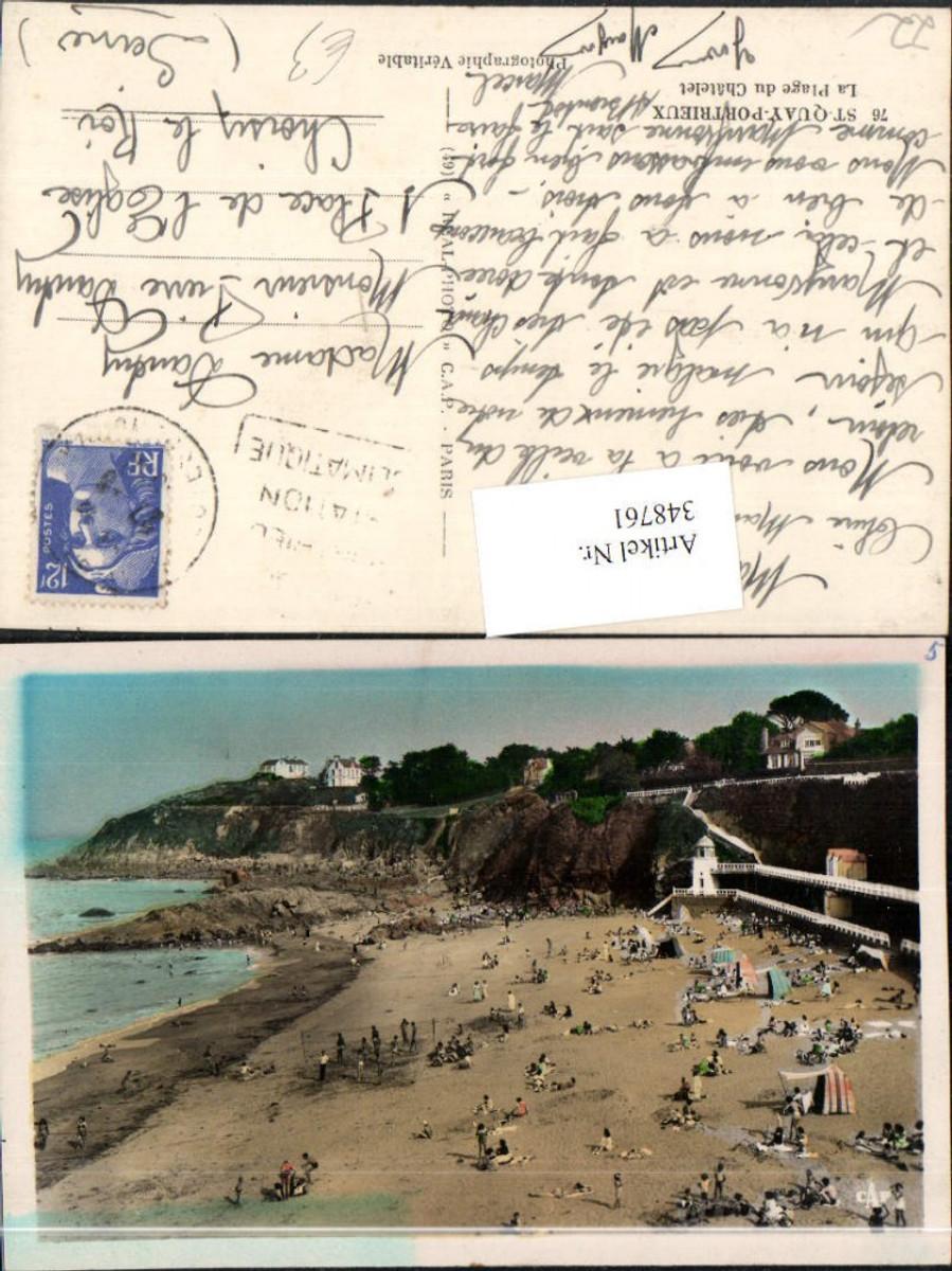 348761,Bretagne Cote-Amor St-Quay-Portrieux La Plage du Chatelet Strand günstig online kaufen