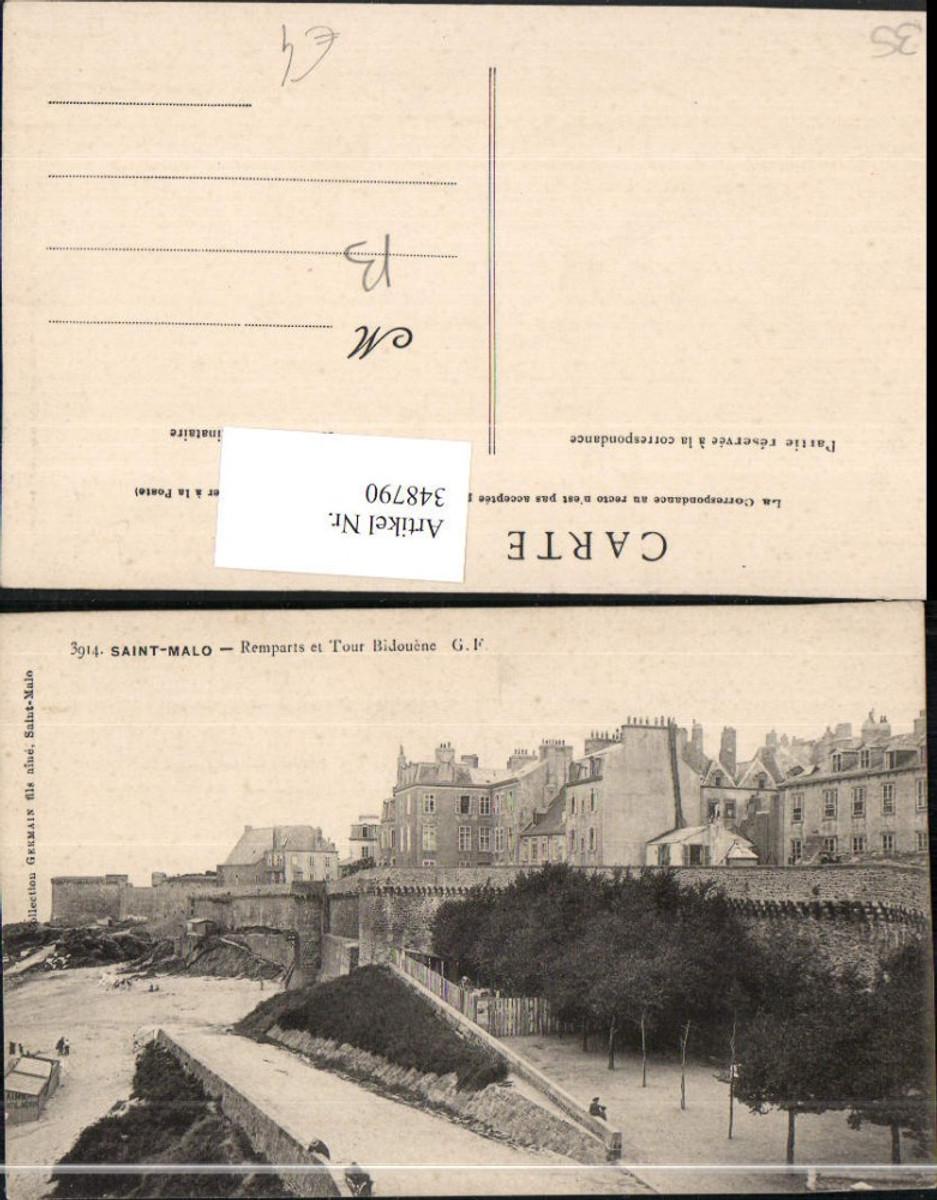 348790,Bretagne Ille-et-Vilaine Saint-Malo Remparts et Tour Bidouene Stadtmauer günstig online kaufen