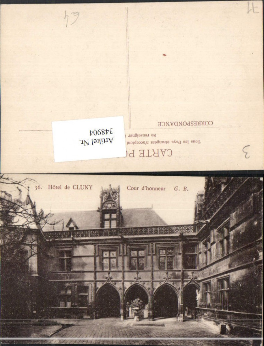 348904,Burgund Saone-et-Loire Hotel de Cluny Cour d'honneur Hof günstig online kaufen