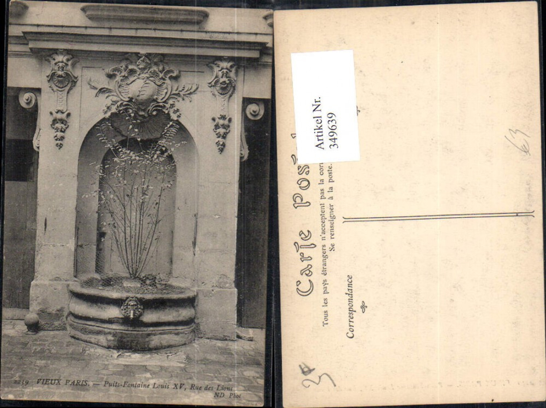 349639,Ile-de-France Paris Puits Fontaine Louis XV Rue des Lions Brunnen  günstig online kaufen