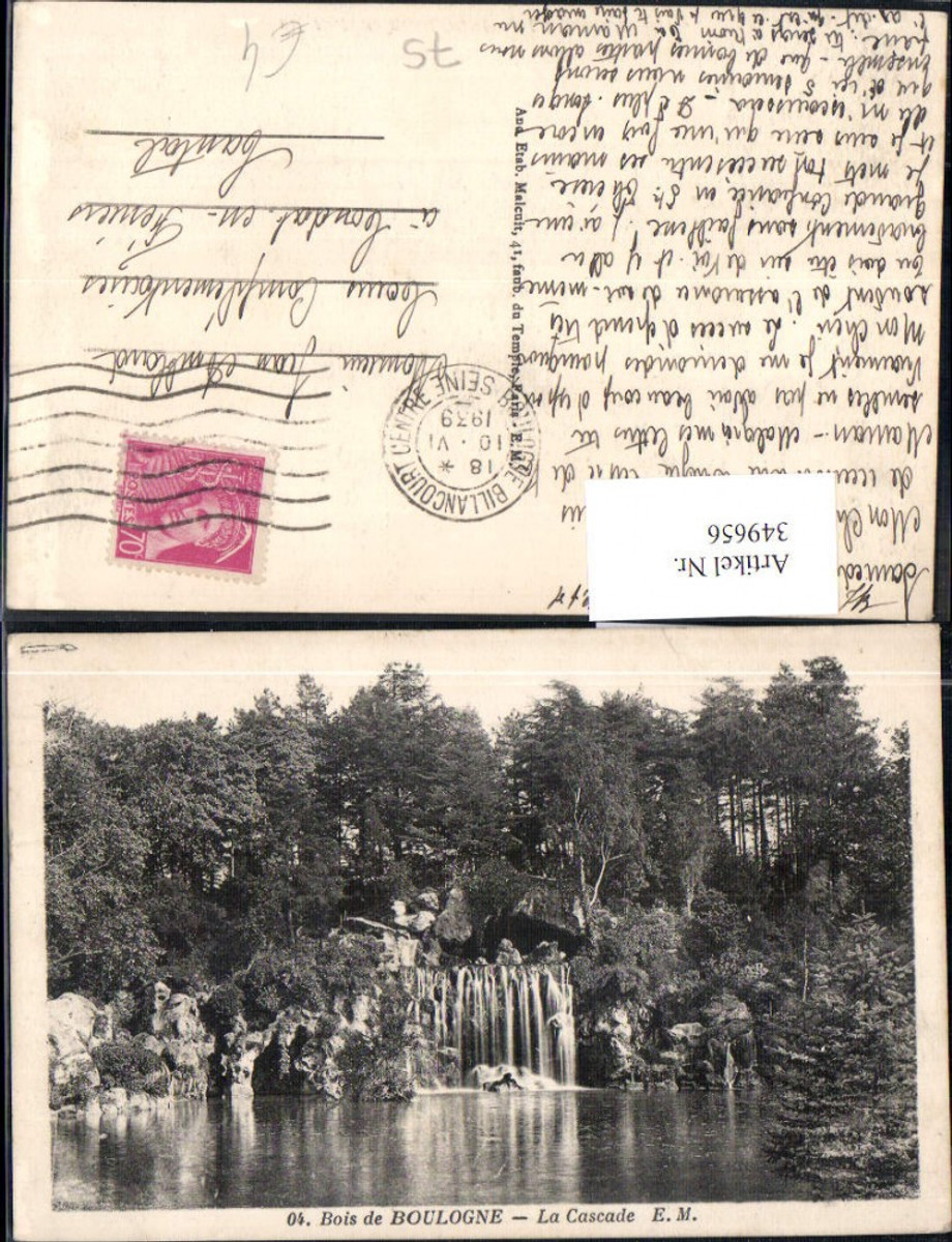 349656,Ile-de-France Paris Bois de Boulogne La Casade Wasserfall  günstig online kaufen