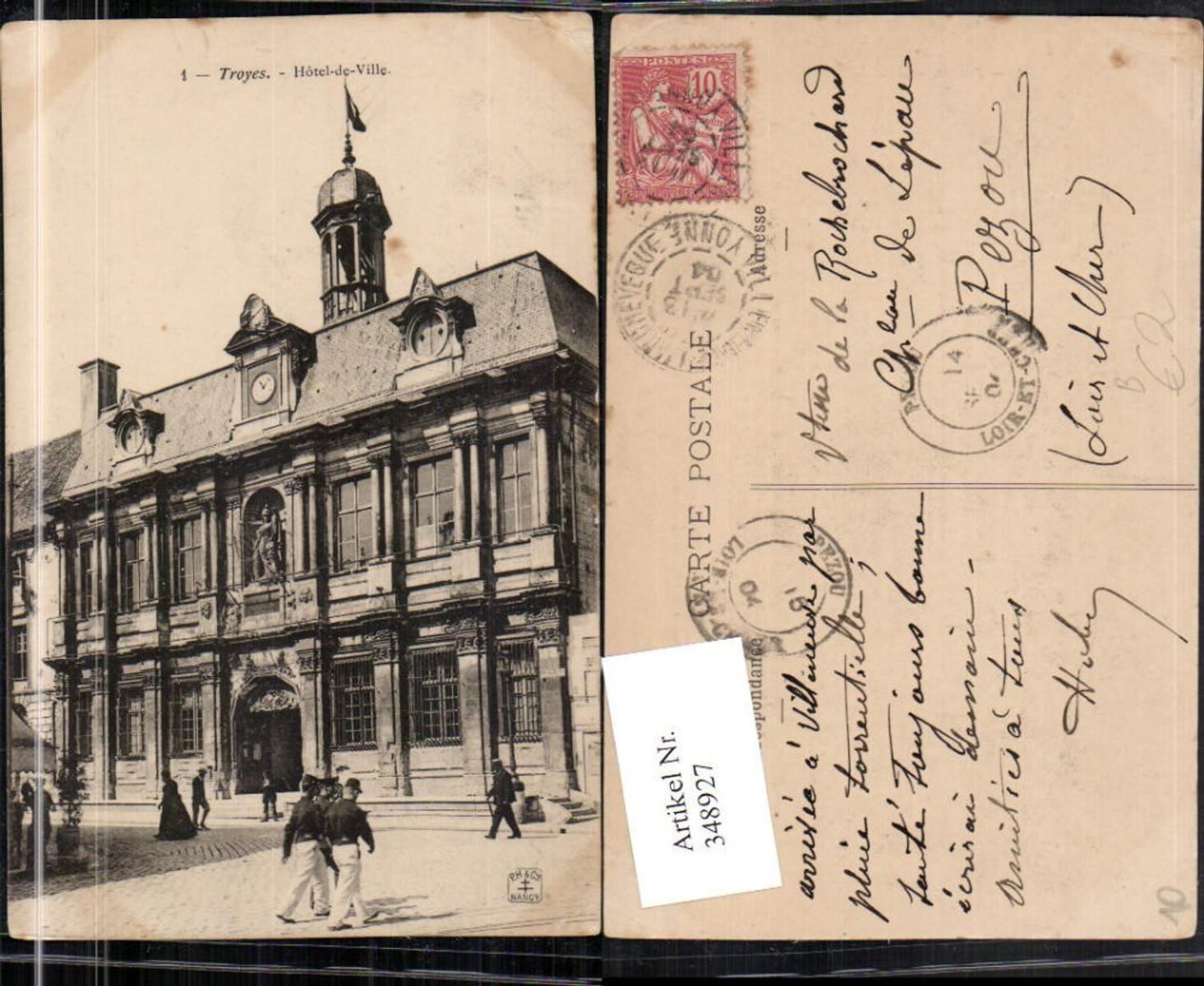 348927,Champagne-Ardenne Aube Troyes Hotel-de-Ville Rathaus günstig online kaufen