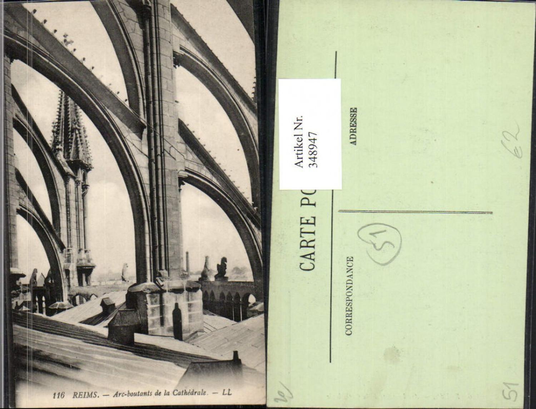 348947,Champagne-Ardenne Marne Reims Arc-boutants de la Cathedrale Kirche Arkaden günstig online kaufen