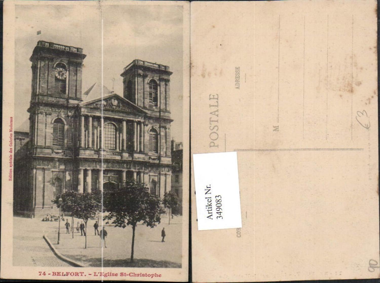 349083,Franche-Comte Territoire-de-Belfort Belfort L'Eglise St-Christophe Kirche günstig online kaufen