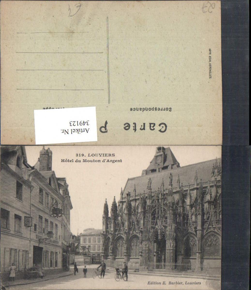 349123,Haute-Normandie Eure Louviers Hotel du Mouton d'Argent Straßenansicht günstig online kaufen
