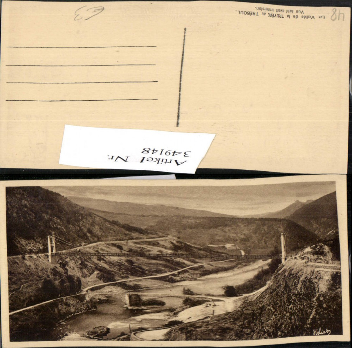 349148,Languedoc-Roussillon Lozere Vallee de la Truyere au Treboul Brücke günstig online kaufen