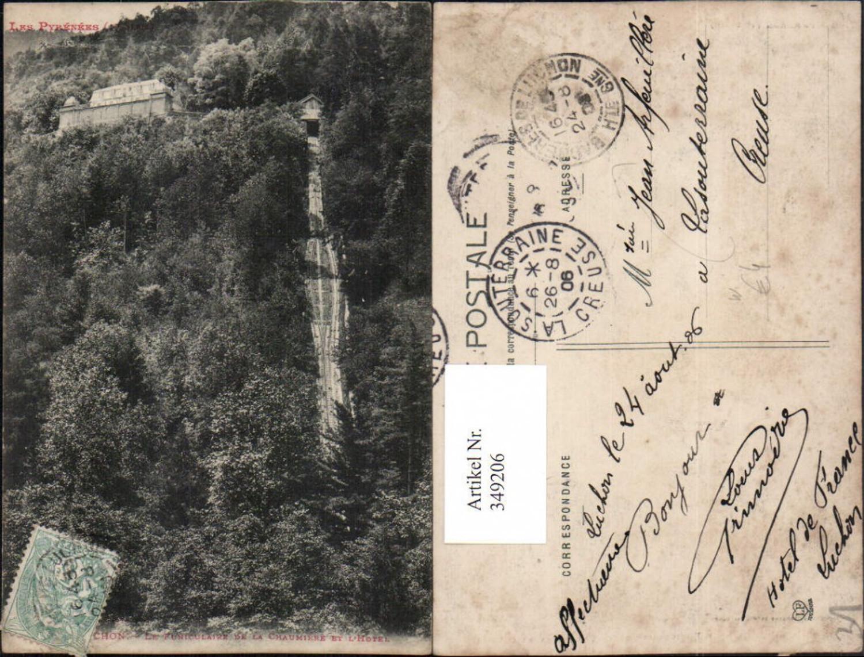 349206,Midi-Pyrenees Haute-Garonne Luchon Le Funiculaire de la Chaumiere et l'Hotel Bergbahn günstig online kaufen