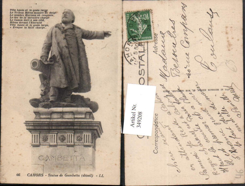 349208,Midi-Pyrenees Lot Cahors Statue de Gambetta Denkmal günstig online kaufen