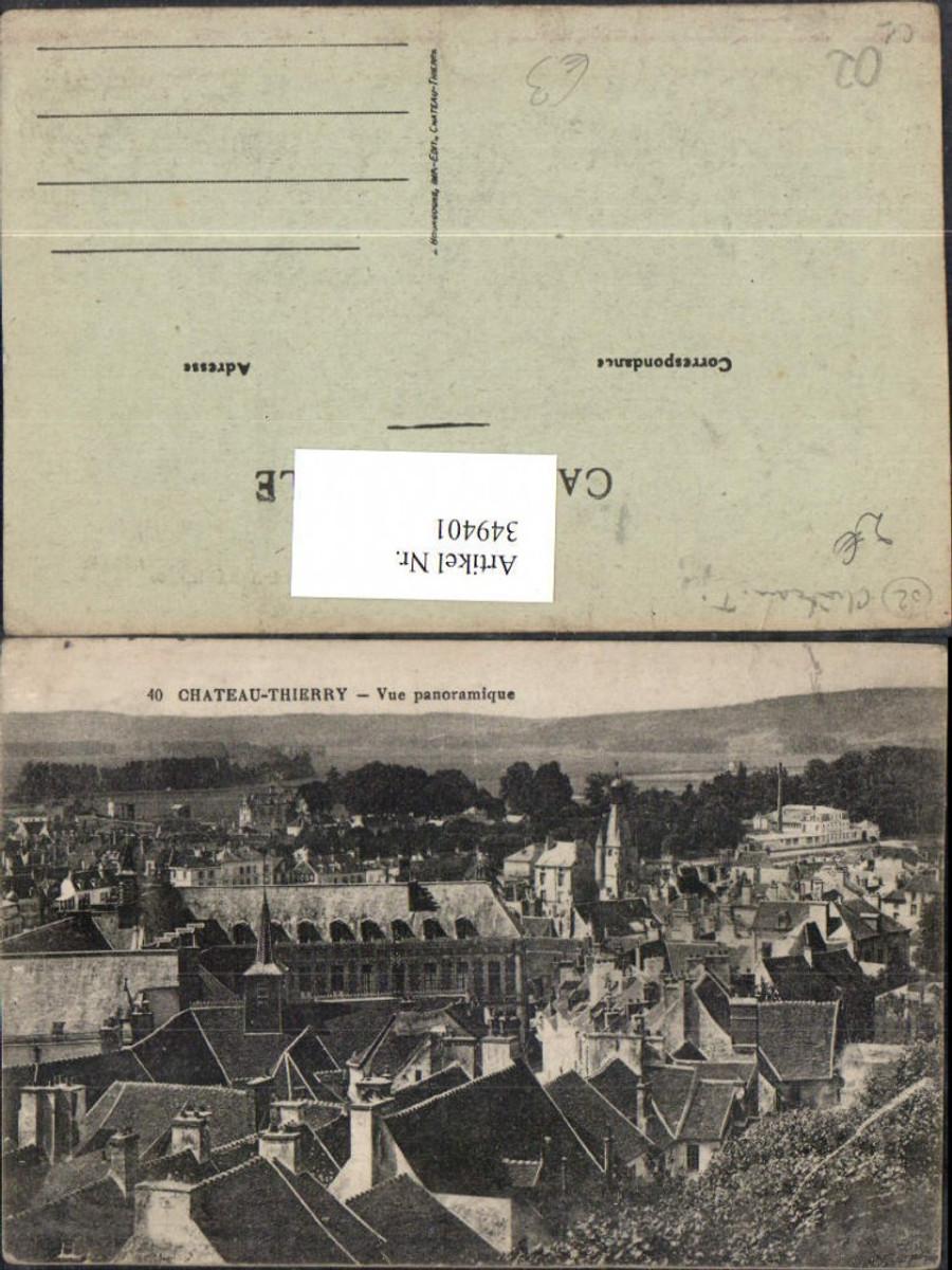 349401,Picardie Aisne Chateau-Thierry Vue panoramique Totale günstig online kaufen