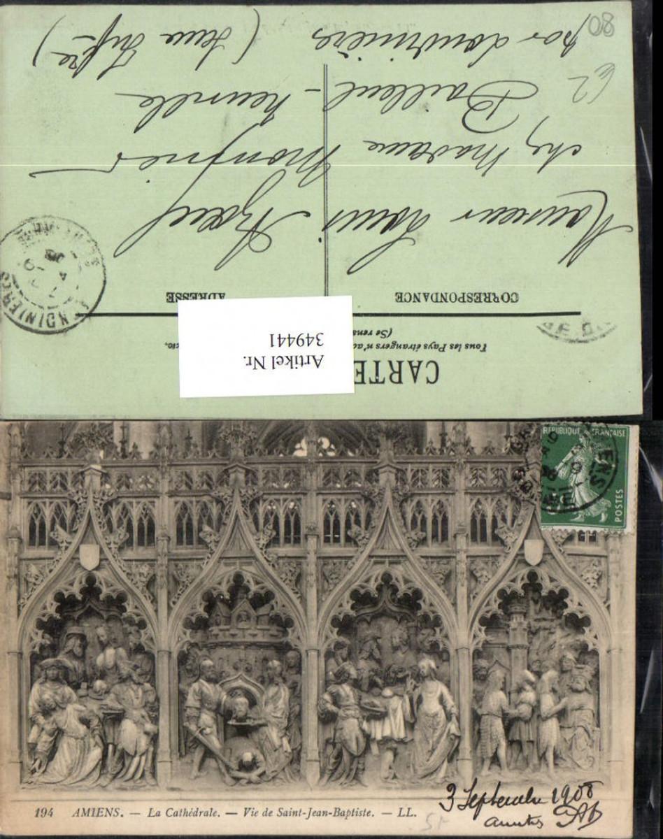 349441,Picardie Somme Amiens La Cathedrale Vie de Saint-Jean-Baptiste Relief günstig online kaufen