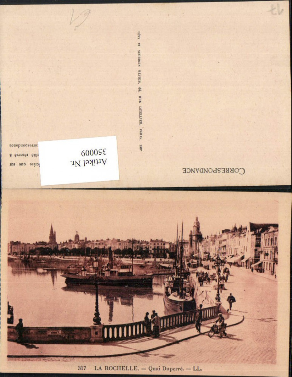350009,Poitou-Charentes Charente-Maritime La Rochelle Quai Duperre Hafen Dampfer günstig online kaufen