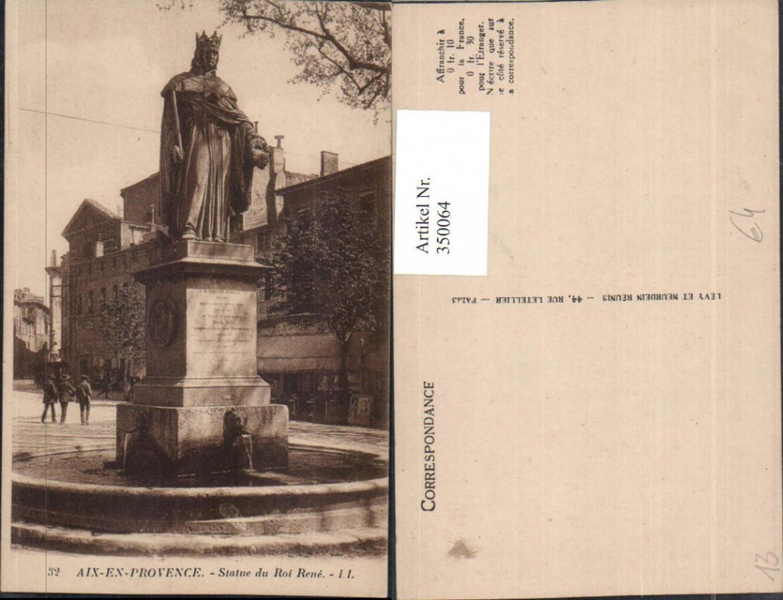 350064,Provence-Alpes-Cote-Azur Bouches-de-Rhone Aix-en-Provence Statue du Roi Rene Denkmal günstig online kaufen