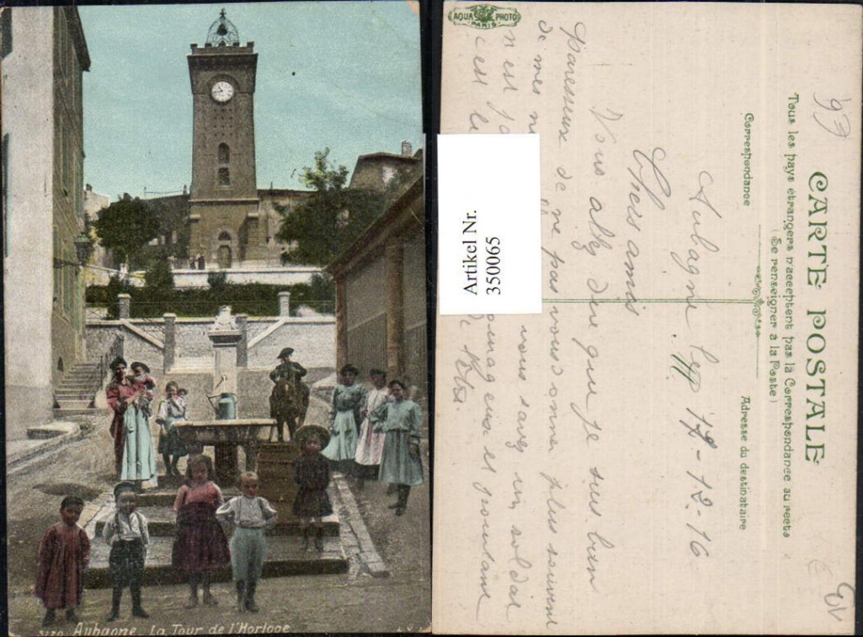 350065,Provence-Alpes-Cote-Azur Bouches-de-Rhone Aubagne La Tour de l'Horloge Uhrturm günstig online kaufen