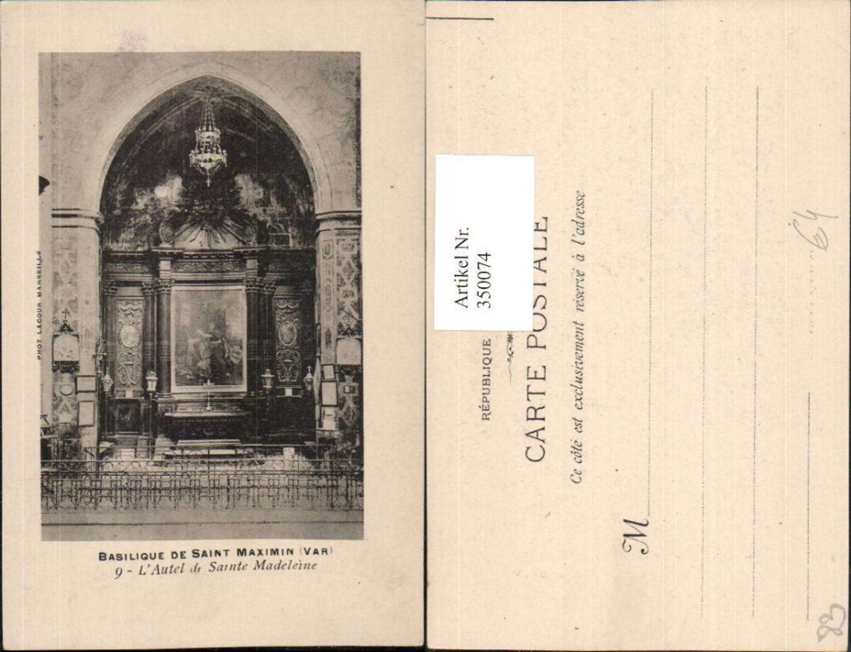 350074,Provence-Alpes-Cote-Azur Var Saint Maximin Basilique Autel Sainte Madeleine Altar günstig online kaufen