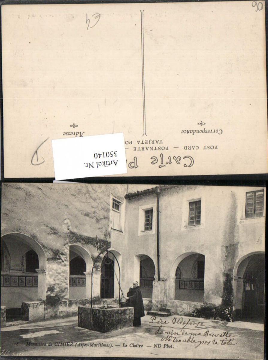350140,Provence-Alpes-Cote-Azur Alpes-Maritimes Monastere de Cimiez Le Cloitre Kloster Brunnen günstig online kaufen