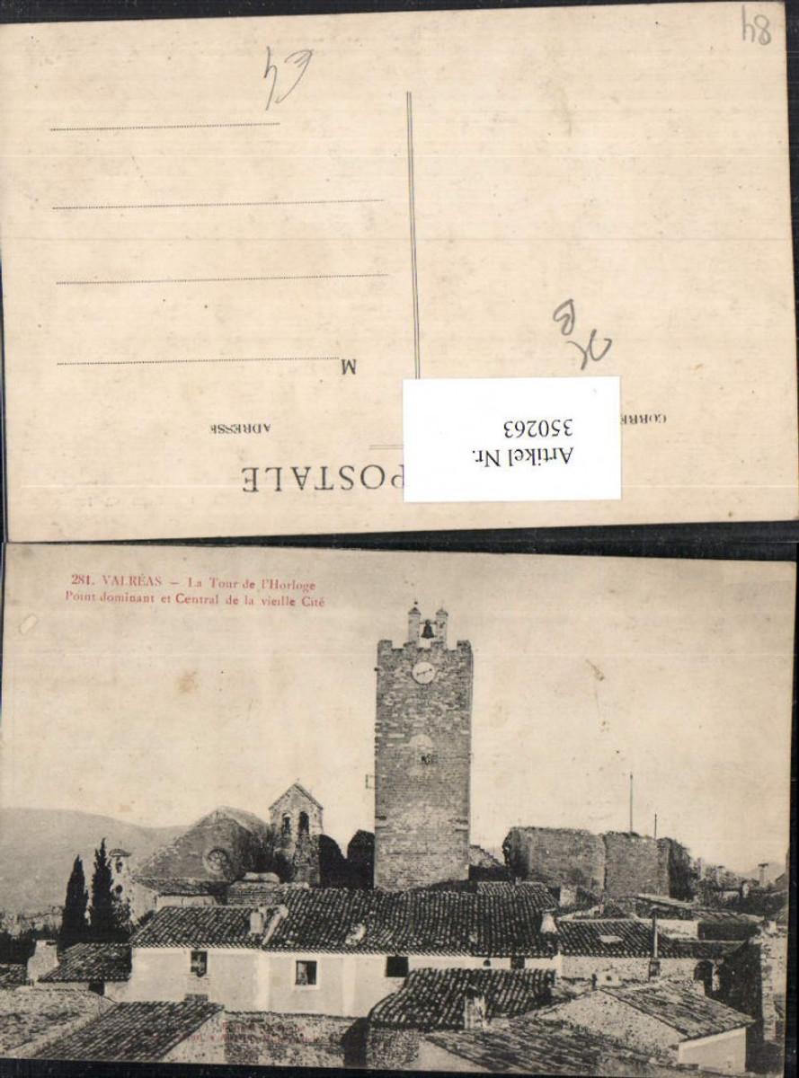 350263,Provence-Alpes-Cote-Azur Vaucluse Valreas La Tour de l'Horloge Uhrturm günstig online kaufen