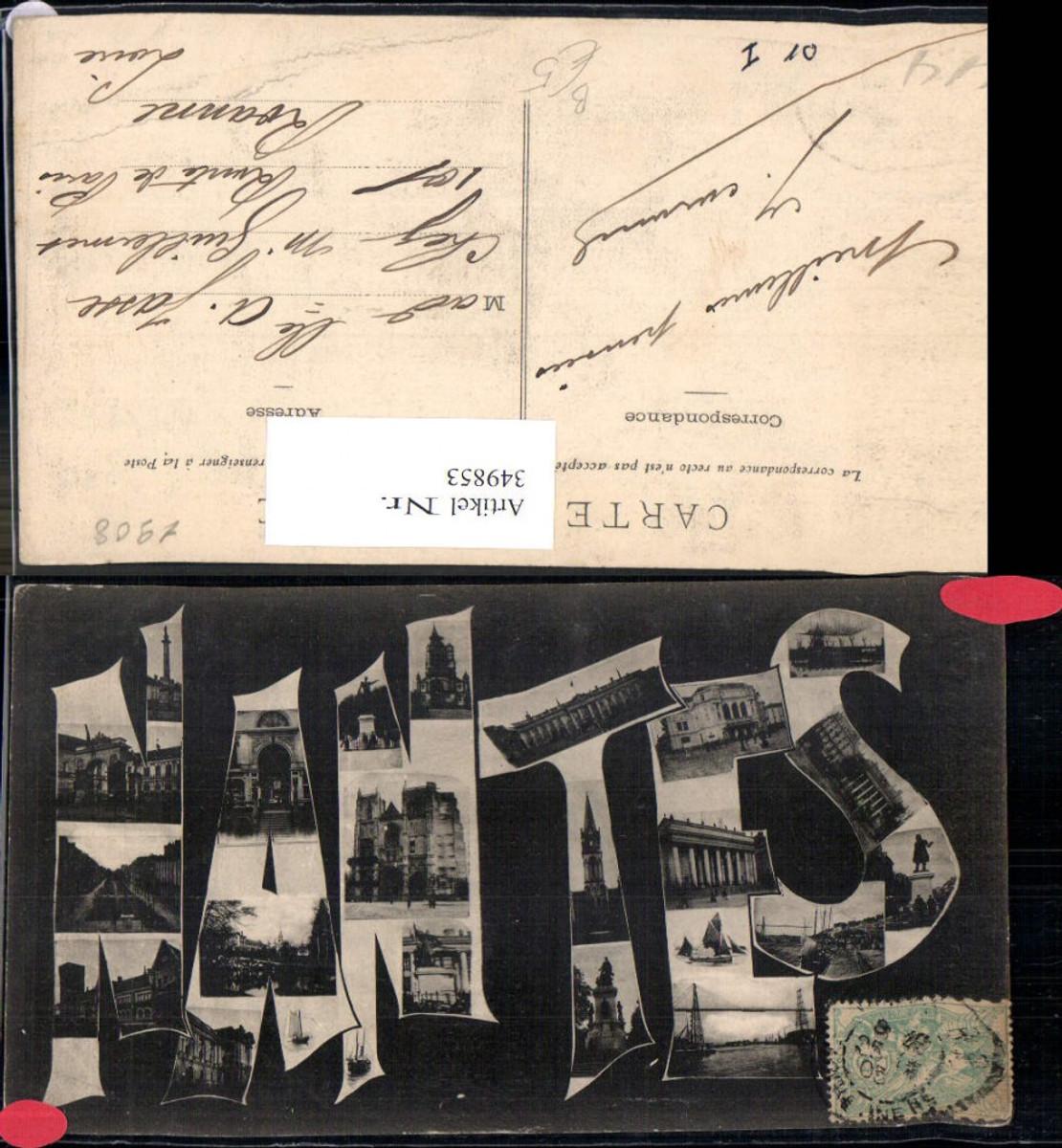 349853,Pays de la Loire Loire-Atlantique Nantes Buchstaben Collage Mehrbildkarte  günstig online kaufen