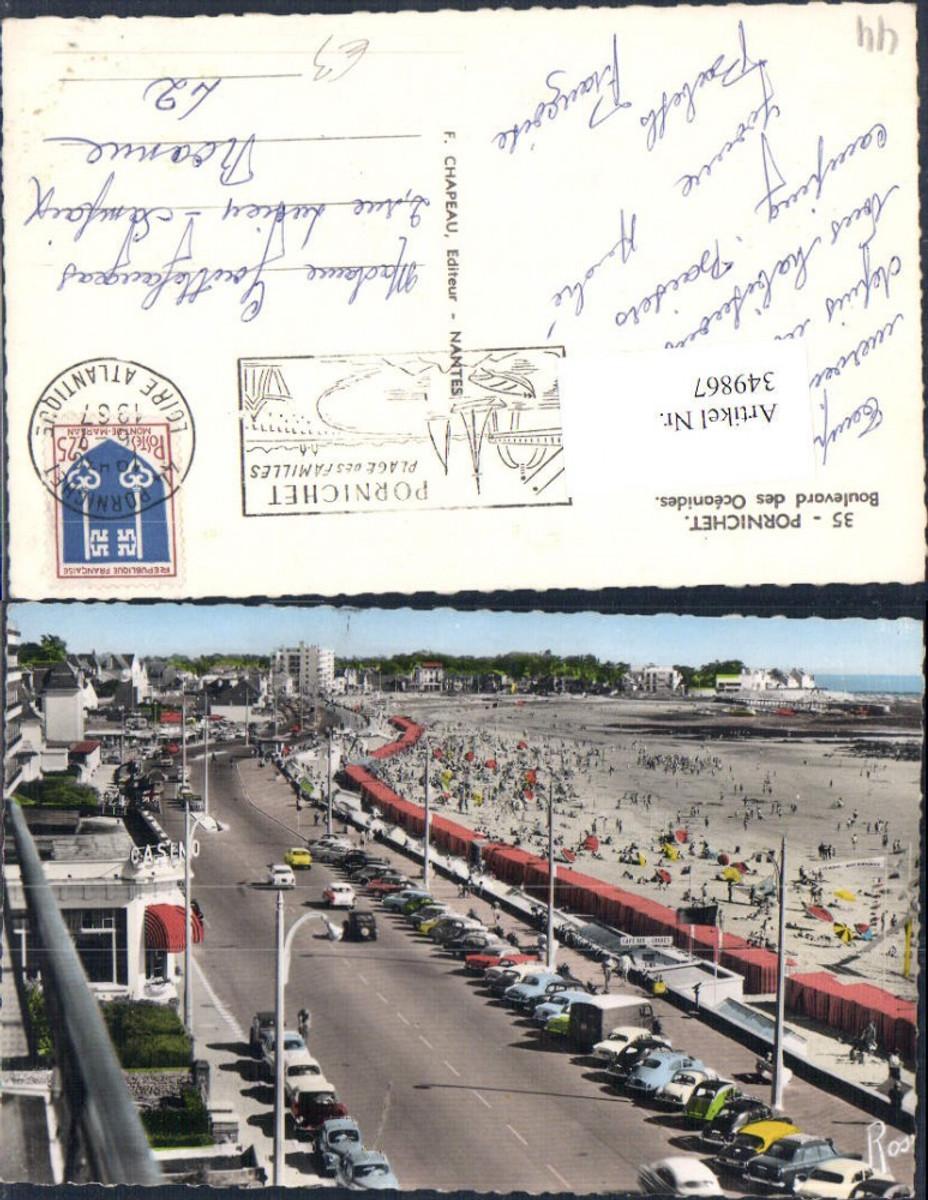 349867,Pays de la Loire Loire-Atlantique Pornichet Boulevard des Oceanides Strand Küstenstraße  günstig online kaufen