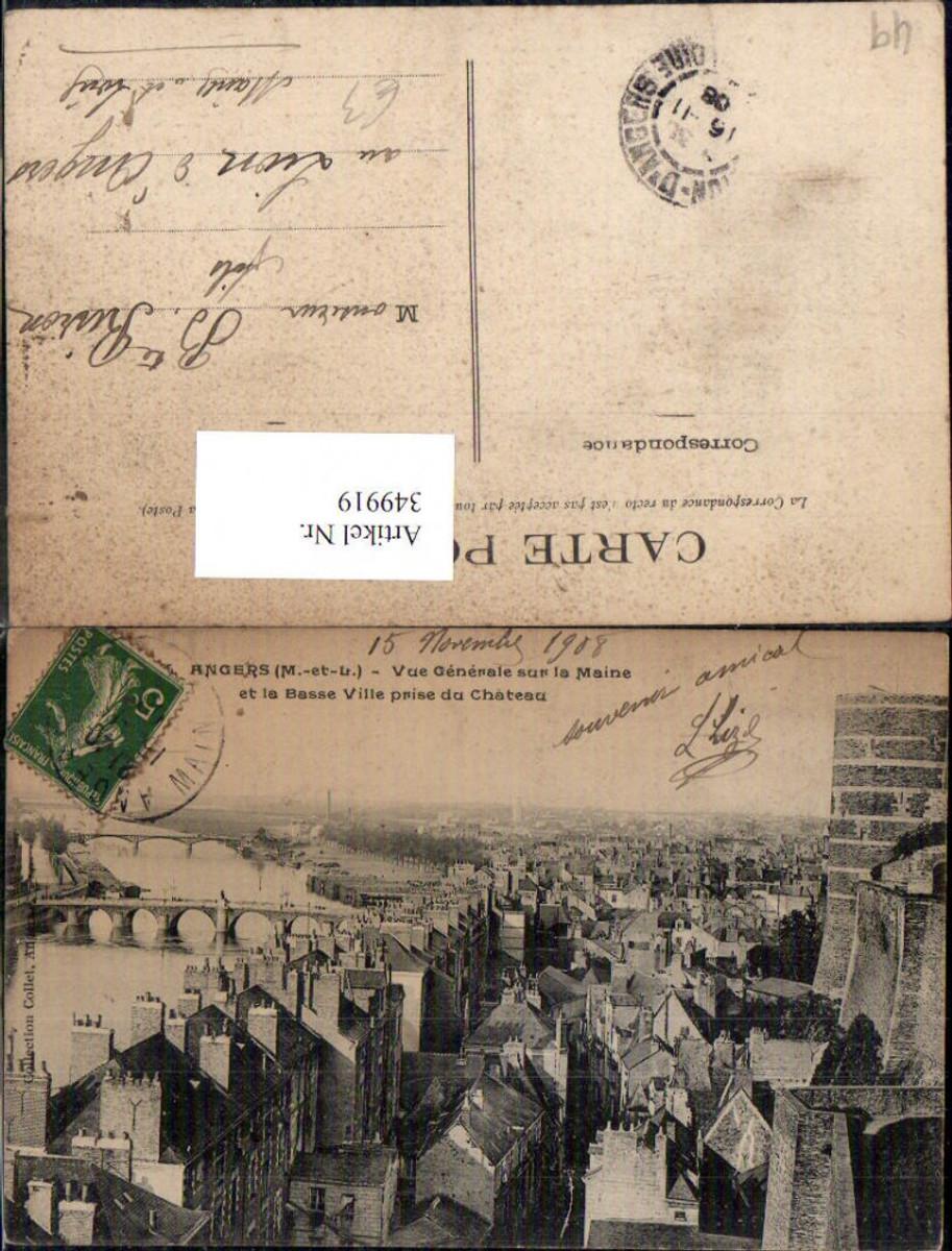 349919,Pays de la Loire Maine-et-Loire Angers Vue Generale sur la Maine et la Basse Ville prise du Chateau  günstig online kaufen