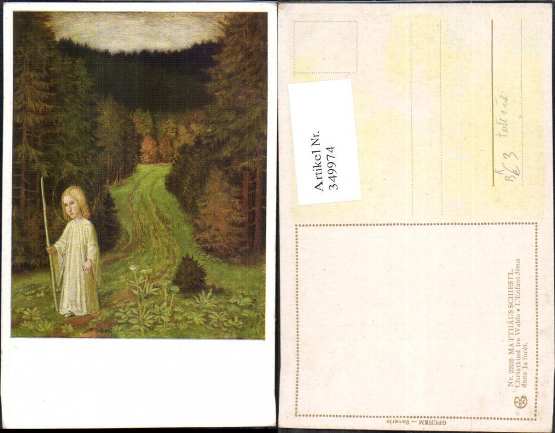 349974,Künstler Ak Matthäus Schiestl Christkind im Walde Weihnachten Religion  günstig online kaufen