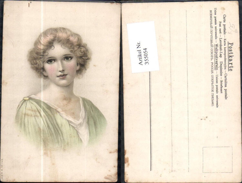 355054,Künstler Ak Frau Portrait  günstig online kaufen