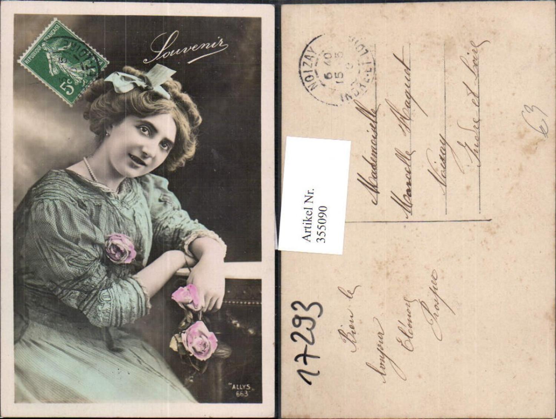 355090,Frau Haarschleife Rosen Blumen  günstig online kaufen