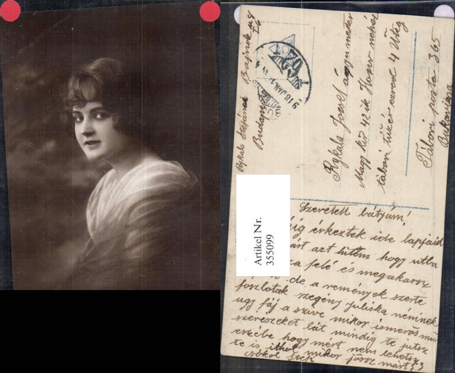 355099,Foto Ak Frau Portrait  günstig online kaufen