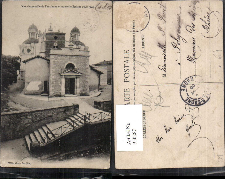 350287,Rhone-Alpes Ain Ars Vue de l'ancienne et nouvelle Eglises Kirche günstig online kaufen