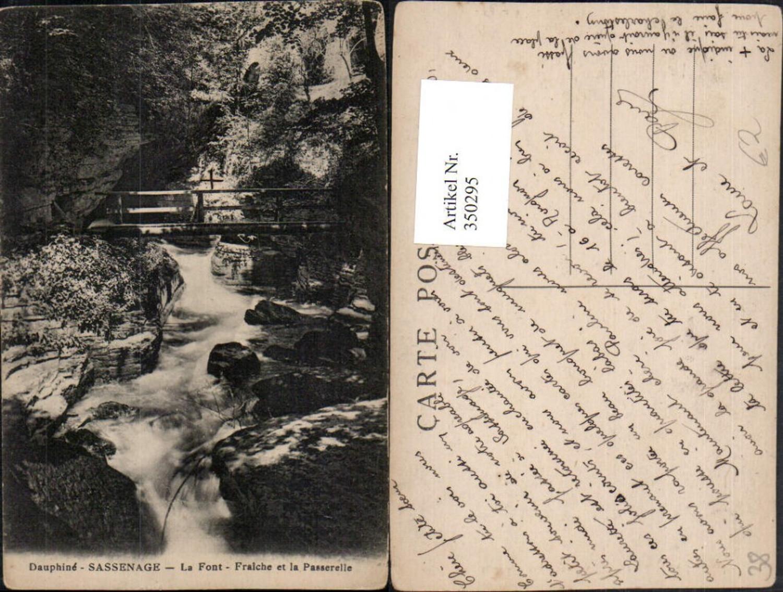 350295,Rhone-Alpes Isere Dauphine Sassenage La Font Fraiche et la Passerelle Brücke günstig online kaufen