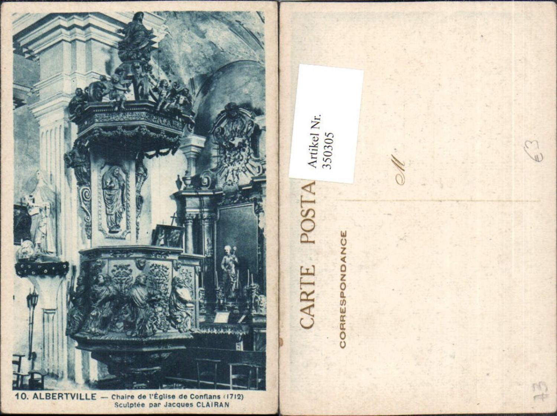 350305,Rhone-Alpes Savoie Albertville Chaire de l'Eglise de Confalsn Kirche Kanzel günstig online kaufen