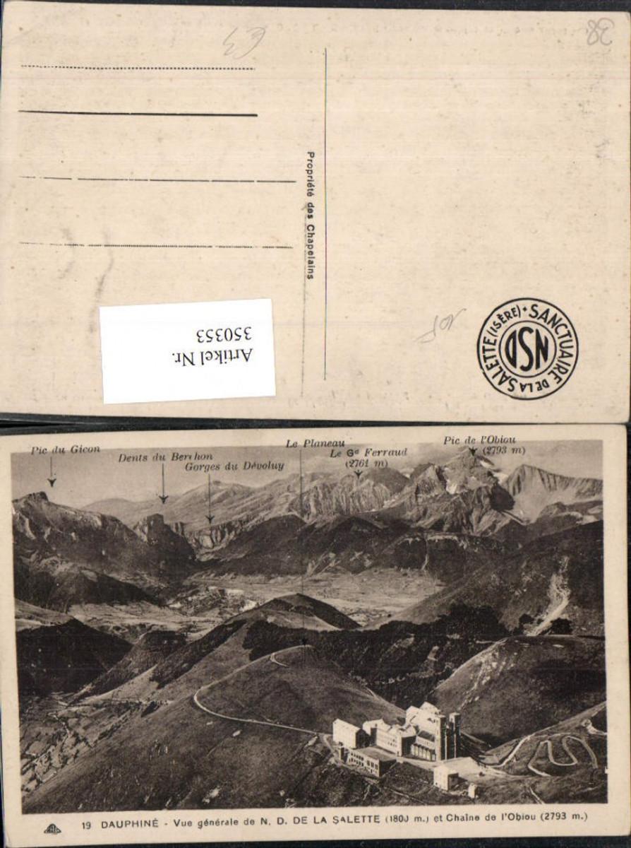 350353,Rhone-Alpes Isere Dauphine Vue generale de la Salette et Chaine Obiou Bergkulisse günstig online kaufen