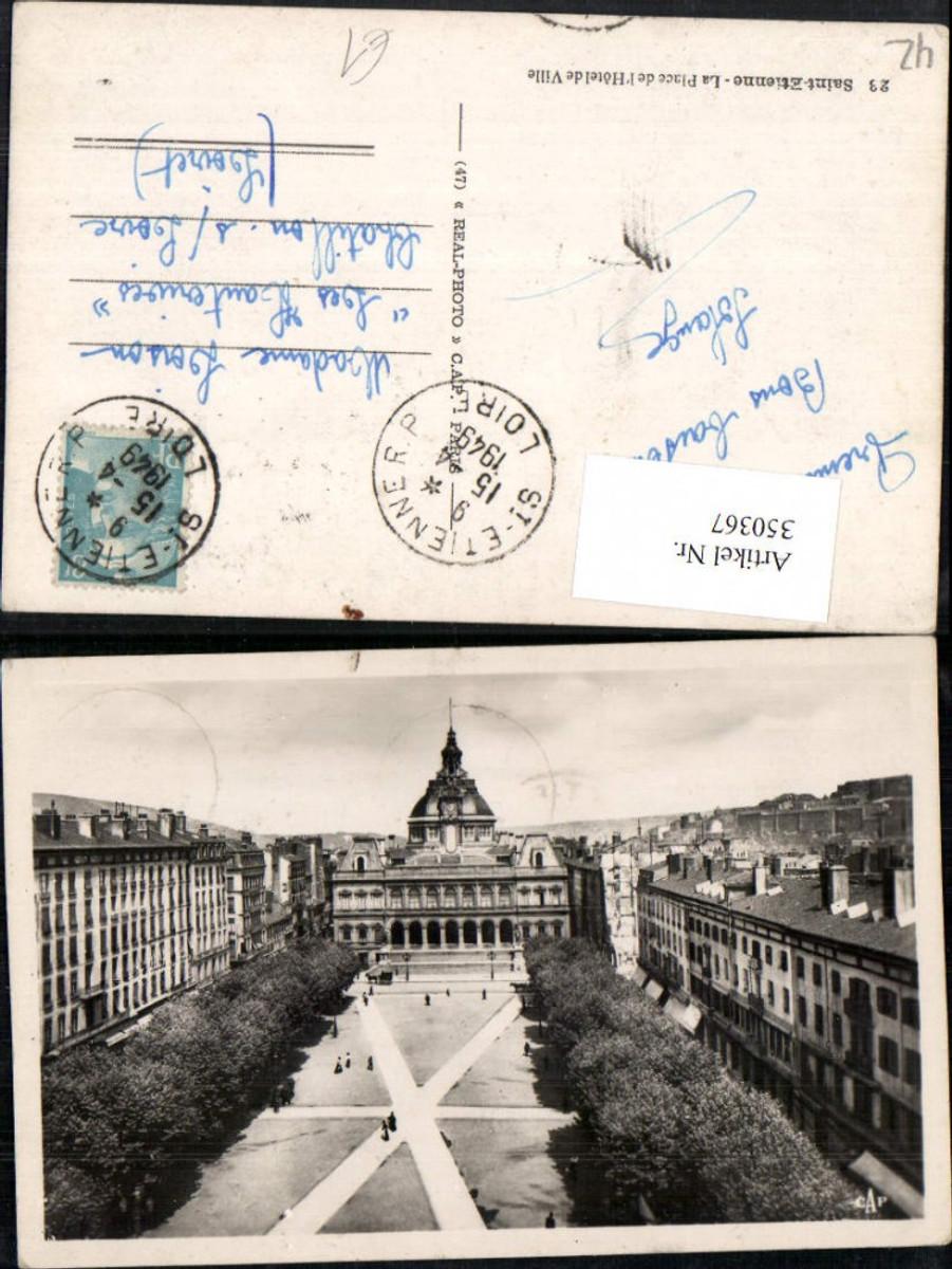 350367,Rhone-Alpes Isere Loire Saint-Etienne La Place de l'Hotel de Ville Rathaus günstig online kaufen