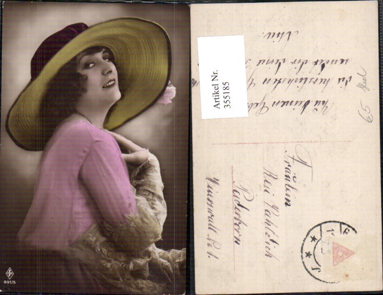 355185,Foto Ak Frau mit Hut Portrait  günstig online kaufen