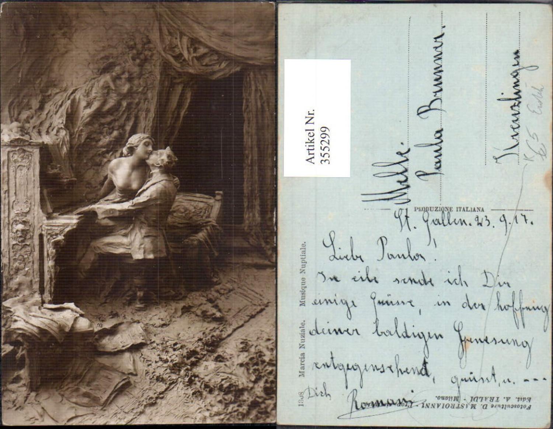 355299,Künstler Ak D. Mastroianni Musique Nuptiale Erotik Paar Kuss Klavier  günstig online kaufen
