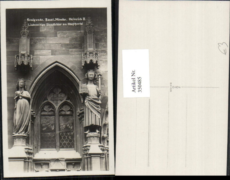 350485,Basel Münster Standbilder am Hauptportal Kunigunde u. Heinrich II günstig online kaufen