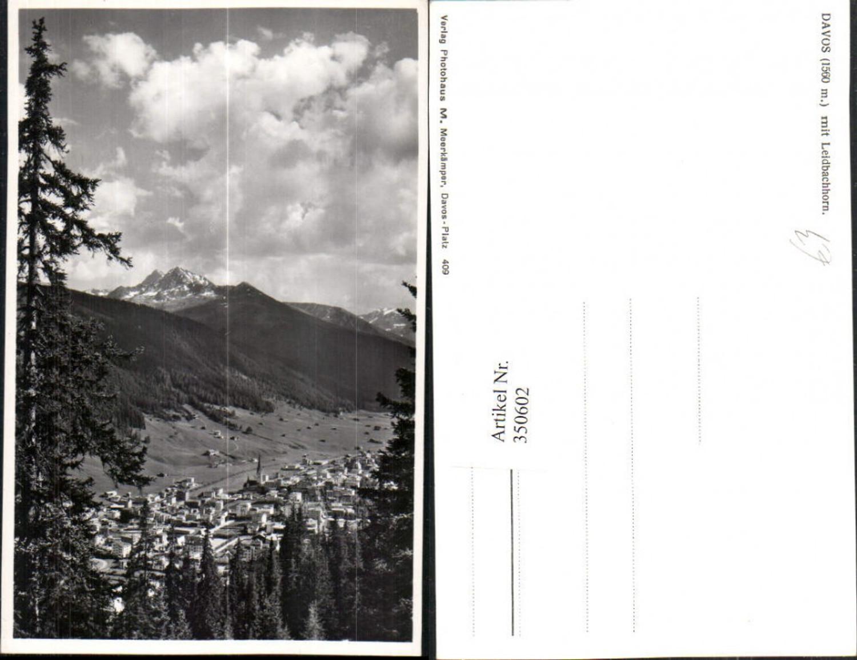 350602,Davos Totale m. Leidbachhorn Bergkulisse Kt Graubünden günstig online kaufen