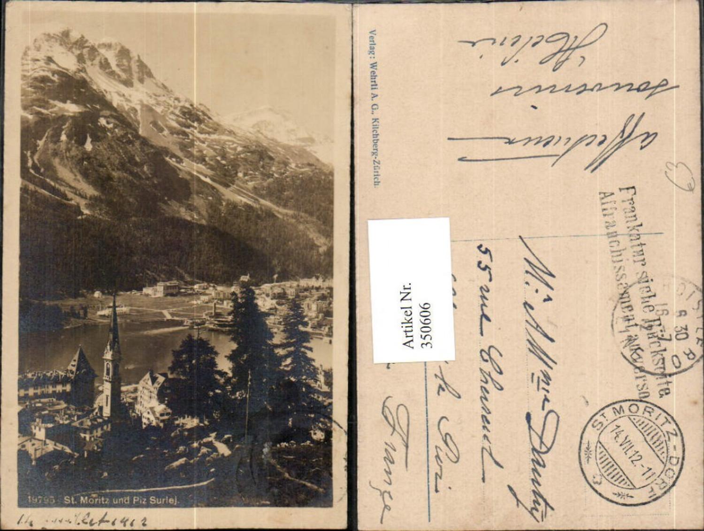 350606,St. Moritz Teilansicht m. Piz Surlej Bergkulisse Kt Graubünden günstig online kaufen