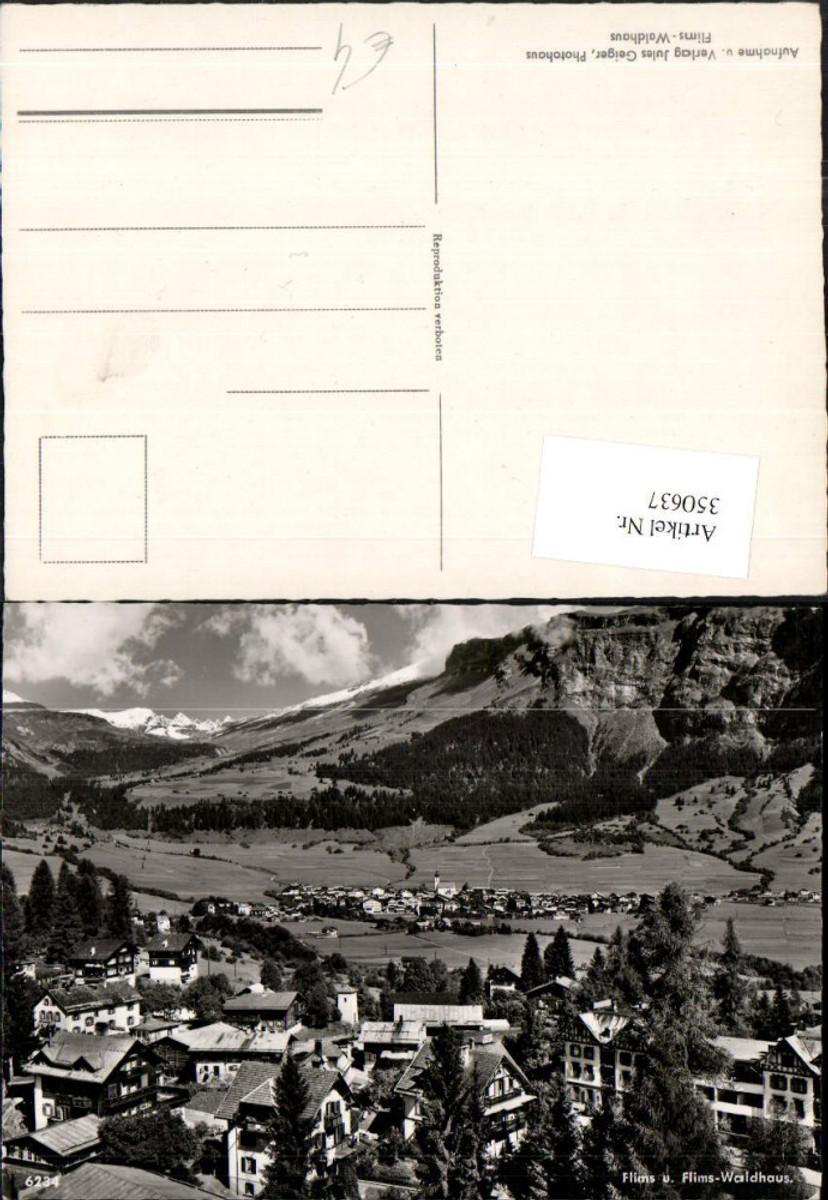 350637,Flims u. Flims-Waldhaus Totale Bergkulisse Kt Graubünden günstig online kaufen